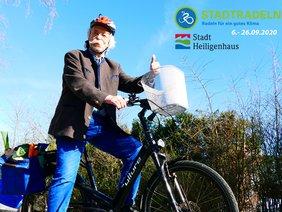 Jean Pütz steht 2020 Pate für die Aktion Stadtradeln in Heiligenhaus